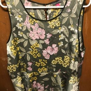 Vince Camuto Peplum Floral Top